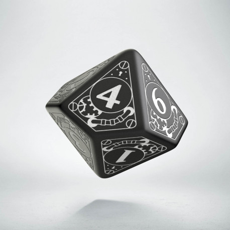 D10 Steampunk Black & white Die