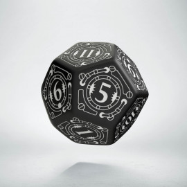 D12 Steampunk Black & white Die