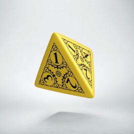 D4 Steampunk Yellow & black Die (1)