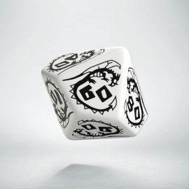 D100 Dragons White & black Die