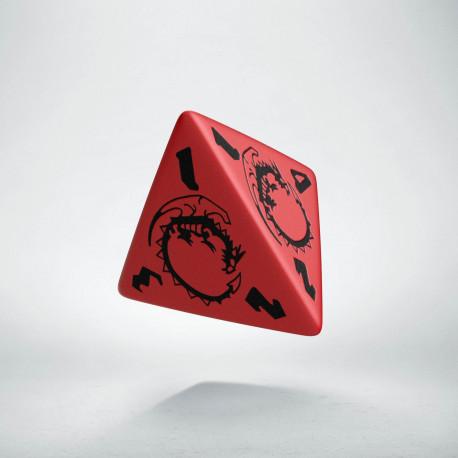D4 Dragons Red & black Die