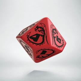 D10 Dragons Red & black Die