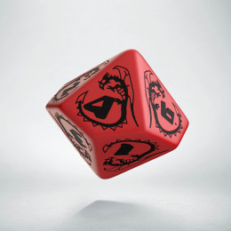 D10 Dragons Red & black Die (1)