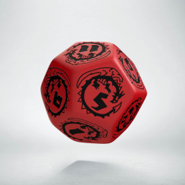 D12 Dragons Red & black Die (1)