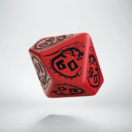 D100 Dragons Red & black Die