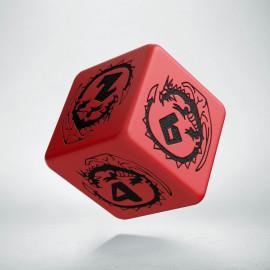 D6 Dragons Red & black Die (1)