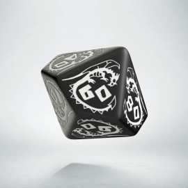 D100 Dragons Black & white Die (1)