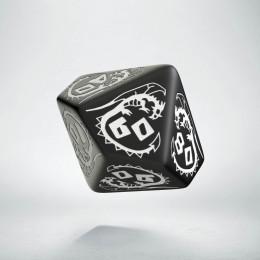 D100 Dragons Black & white Die (1)