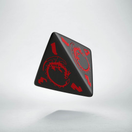 D4 Dragons Black & red Die (1)