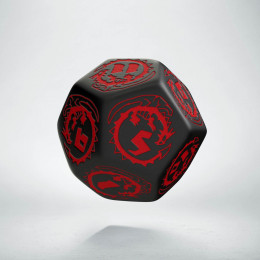 D12 Dragons Black & red Die (1)