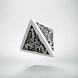 D4 Celtic 3D White & black Die (1)