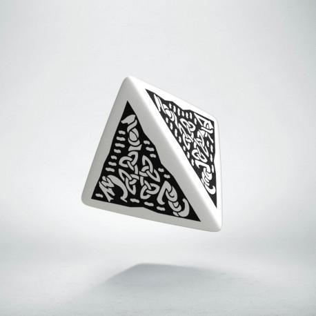 D4 Celtic 3D White & black Die