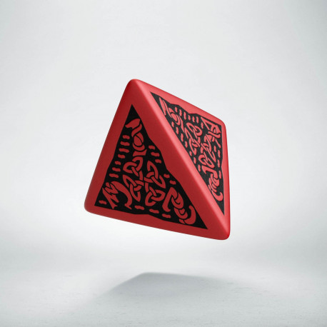 D4 Celtic 3D Red & black Die