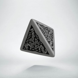 D4 Celtic 3D Gray & black Die (1)