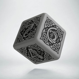 D6 Celtic 3D Gray & black Die (1)
