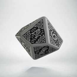 D10 Celtic 3D Gray & black Die (1)
