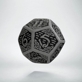 D12 Celtic 3D Gray & black Die (1)