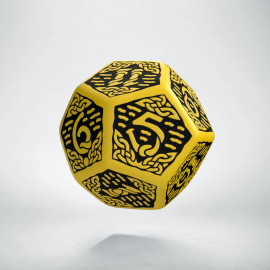 D12 Celtic 3D Yellow & black Die