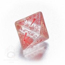 D8 Elvish Translucent & red Die (1)