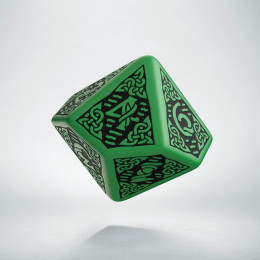 D10 Celtic 3D Green & black Die (1)