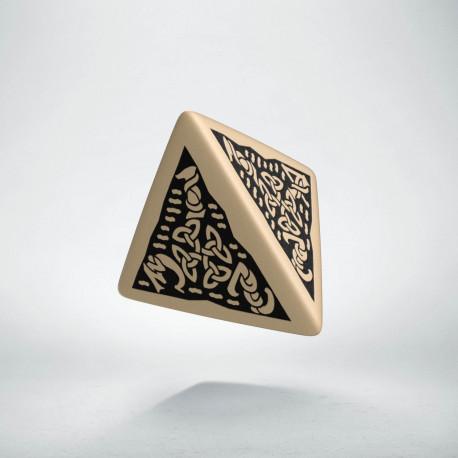 K4 Celtycka 3D Beżowo-czarna