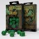 Celtic 3D Revised Green & black Dice Set (7)
