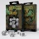 Celtic 3D Revised White & black Dice Set (7)