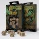 Celtic 3D Revised Beige & black Dice Set (7)