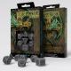 Celtic 3D Revised Gray & black Dice Set (7)