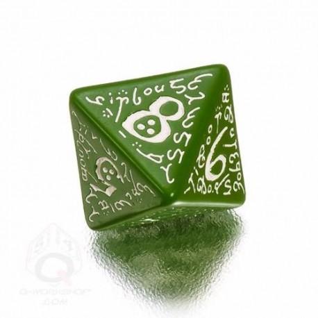 D8 Elvish Green & white Die (1)