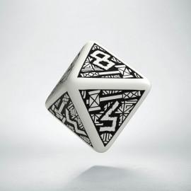 D8 Dwarven White & black Die (1)