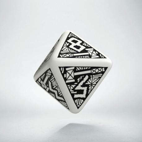D8 Dwarven White & black Die