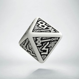 D8 Dwarven White & black Die (1)