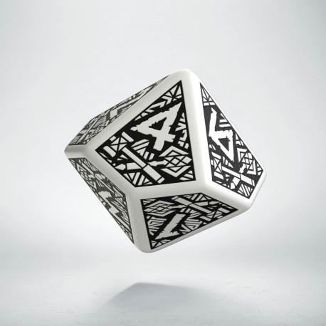 D10 Dwarven White & black Die