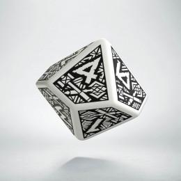 D10 Dwarven White & black Die (1)