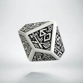 D100 Dwarven White & black Die (1)