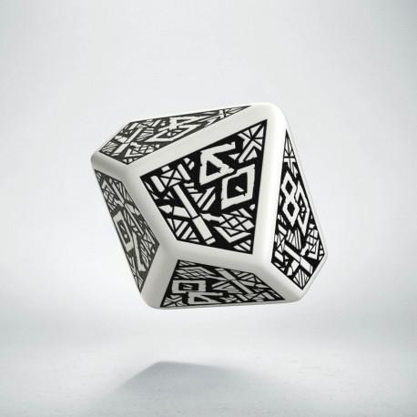 D100 Dwarven White & black Die