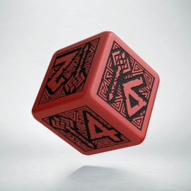 D6 Dwarven Red & black Die
