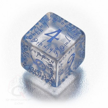D6 Elvish Translucent & blue Die (1)