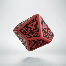 D10 Dwarven Red & black Die