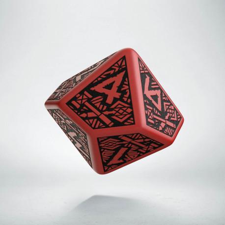 D10 Dwarven Red & black Die