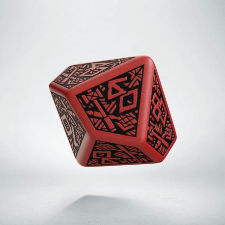 D100 Dwarven Red & black Die