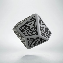 D10 Dwarven Gray & black Die (1)