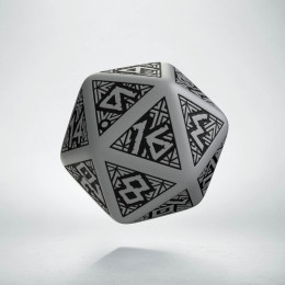 D20 Dwarven Gray & black Die (1)