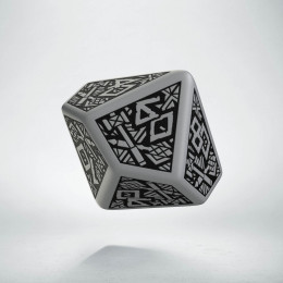 D100 Dwarven Gray & black Die (1)