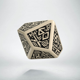 D100 Dwarven Beige & black Die (1)