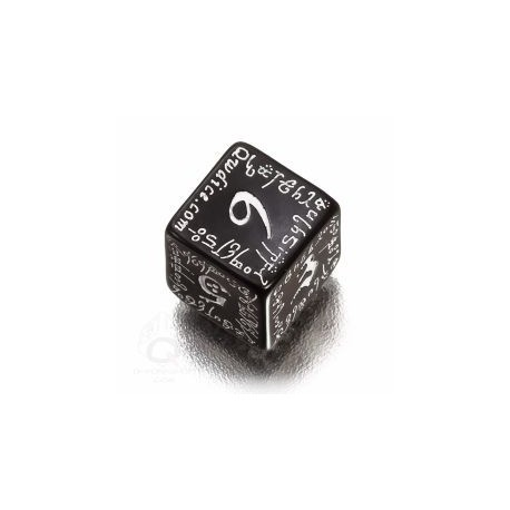 D6 Elvish Black & white Die (1)