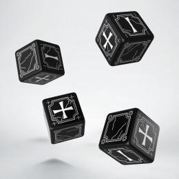 Kości Antyczne Fudge 4K6 Czarno-białe (4)
