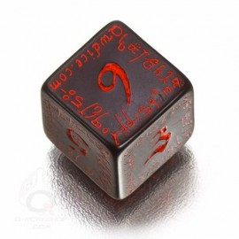 D6 Elvish Black & red Die (1)