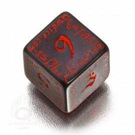 D6 Elvish Black & red Die (1)